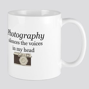 Photography silences the voices in my head Mugs
