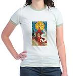 Conjuring Ghosts Jr. Ringer T-Shirt