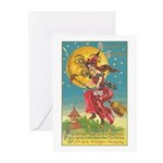 Riding Witches Greeting Cards (Pk of 20)