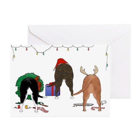 Pit Bull Christmas Greeting Cards (Pk of 10)