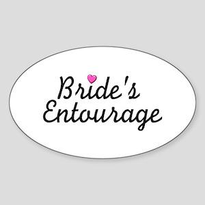 Bride's Entourage Oval Sticker