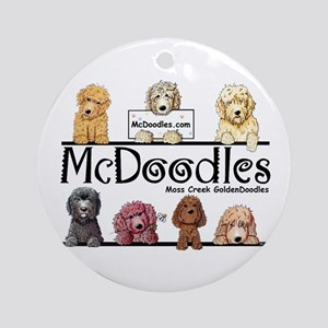 Goldendoodle McDoodles Ornament (Round)