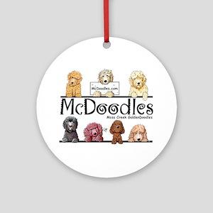 Goldendoodle McDoodles Ornament (Round)