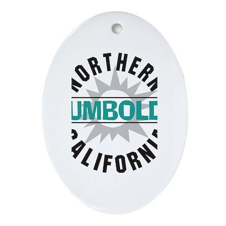 Humboldt California Oval Ornament