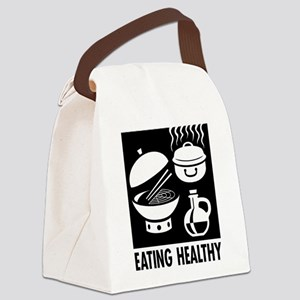 Eating Healthy Canvas Lunch Bag