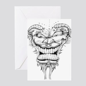 Batman joker comic gotham ha art greeting cards cafepress evil joker greeting card m4hsunfo Images