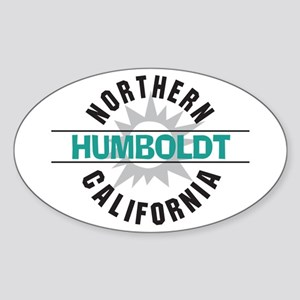 Humboldt California Oval Sticker