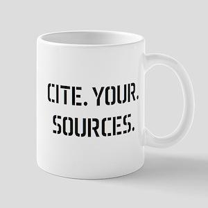 cite sources Mug