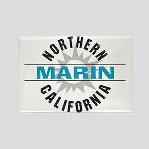 Marin California Rectangle Magnet