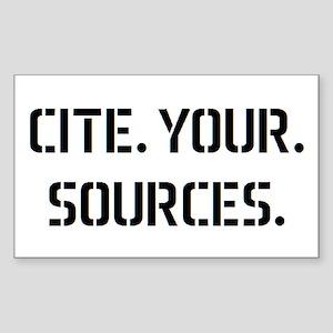 cite sources Sticker (Rectangle)