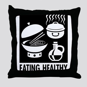 Eating Healthy Throw Pillow
