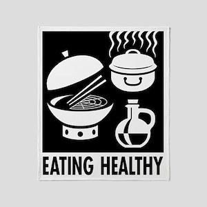 Eating Healthy Throw Blanket