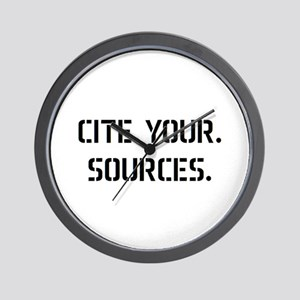 cite sources Wall Clock
