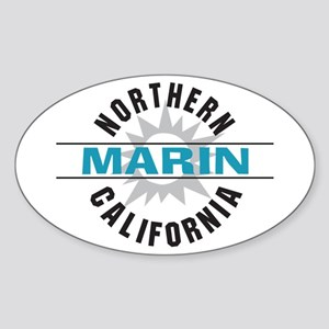 Marin California Oval Sticker