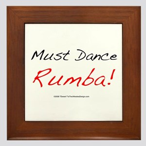 Must Dance Framed Tile
