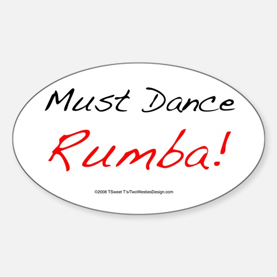 Must Dance Oval Decal