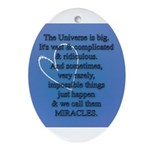 Miracles Oval Ornament