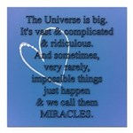 """Miracles Square Car Magnet 3"""" x 3"""""""