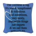 Miracles Woven Throw Pillow