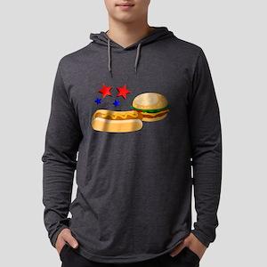 American Hot Dog and Burger Long Sleeve T-Shirt