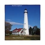 Wind Point Lighthouse Queen Duvet