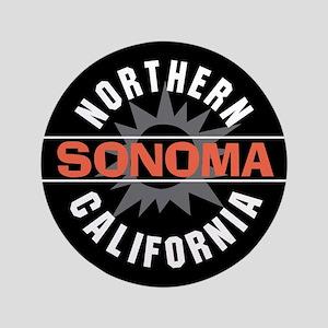 """Sonoma California 3.5"""" Button"""