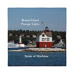 Round Island Lighthouse & Passage Queen Duvet