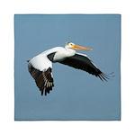 Great White Pelican Queen Duvet