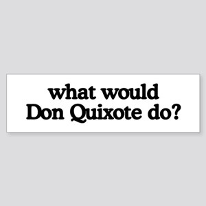 Don Quixote Bumper Sticker