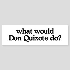 Don Quixote Bumper Sticker