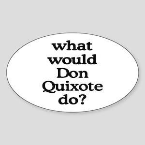 Don Quixote Oval Sticker