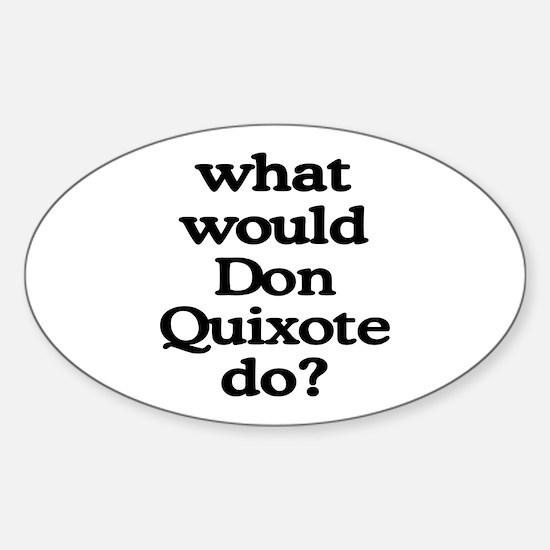 Don Quixote Oval Decal