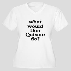 Don Quixote Women's Plus Size V-Neck T-Shirt