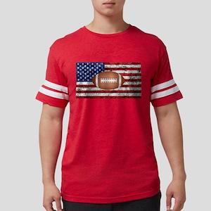 American football ball on flag T-Shirt