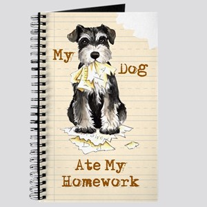 Miniature Schnauzer Ate Homework Journal