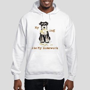 Miniature Schnauzer Ate Homework Hooded Sweatshirt