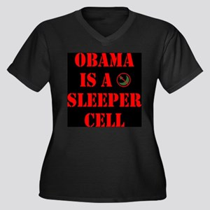 Obama is a Sleeper Cell Women's Plus Size V-Neck D