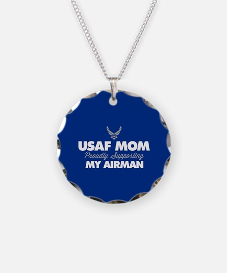 USAF Mom Supporting my Airma Necklace