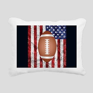 Football on american fla Rectangular Canvas Pillow