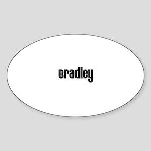 Bradley Oval Sticker