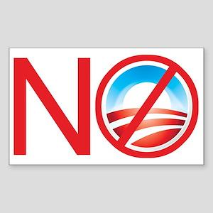 No Obama Rectangle Sticker