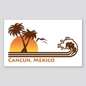 Cancun Mexico Rectangle Sticker
