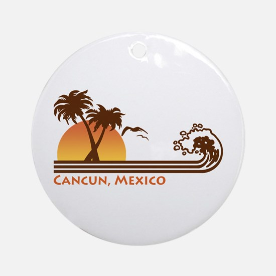 Cancun Mexico Ornament (Round)