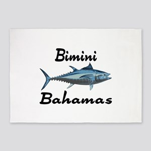 Bimini Tuna Fishing 5'x7'Area Rug