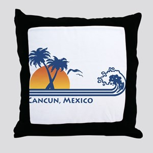 Cancun Mexico Throw Pillow