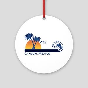 Cancun Mexico Ornament (Round)