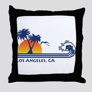 Los Angeles, CA Throw Pillow