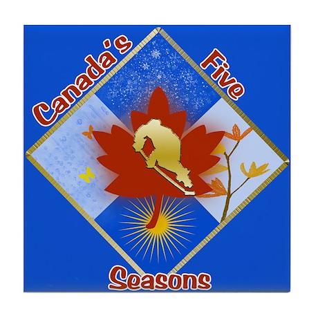 Canada's 5 Seasons Tile Coaster