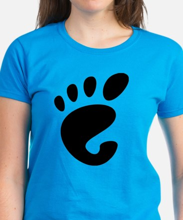 GNOME linux Women's Dark T-Shirt