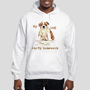 Bulldog Ate Homework Hooded Sweatshirt